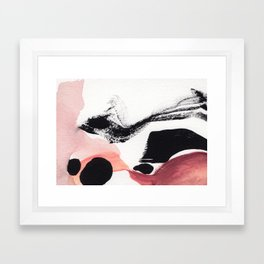 Blush Abstract Art Framed Art Print