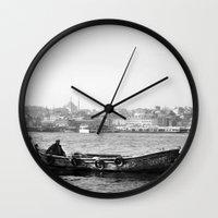 boat Wall Clocks featuring Boat by YsfKara