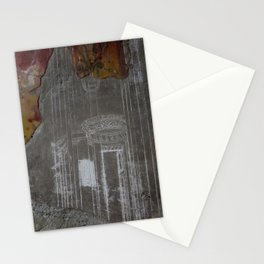 mural post volcano Stationery Cards