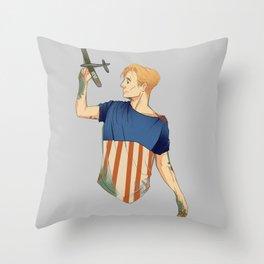 Steve Rogers Throw Pillow