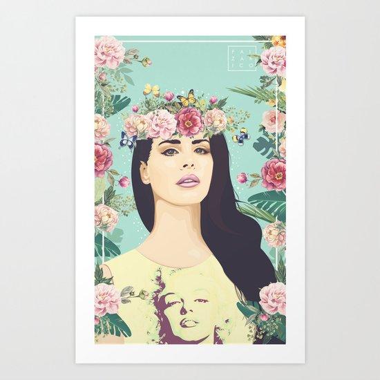 Hipster Queen Art Print
