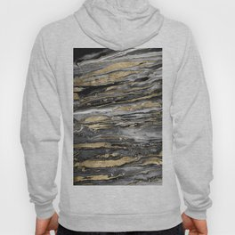 Stylish gold abstract marbleized paint Hoody