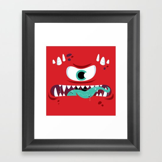 Baddest Red Monster! Framed Art Print