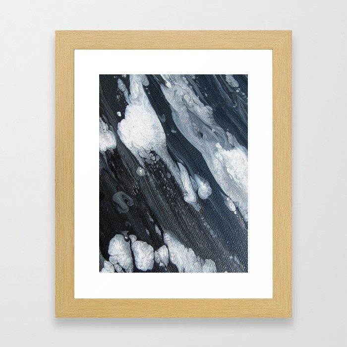 untitled (3189 blck and white) Framed Art Print