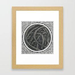 Junction - line/circle graphic Framed Art Print