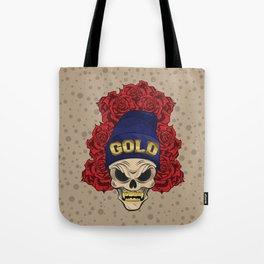 MAD SKULL GOLD Tote Bag