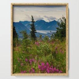 Alaskan Glacier & Fireweed Serving Tray