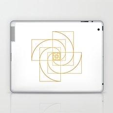 Golden Pinwheel Laptop & iPad Skin