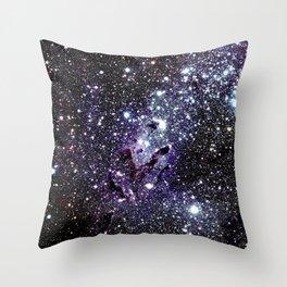 The Eagle Nebula : Pillars of Creation Deep Dark Blues & Purples Throw Pillow
