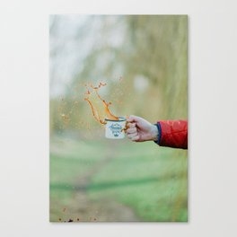 Spill the Coffee (Color) Canvas Print