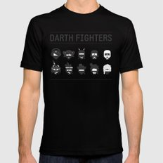 Darth Fighters Black Mens Fitted Tee LARGE