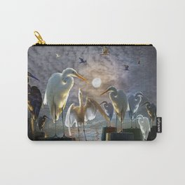 Fantasy Image of Bird Gathering Carry-All Pouch