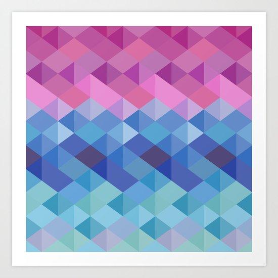 Retro Geometry Art Print