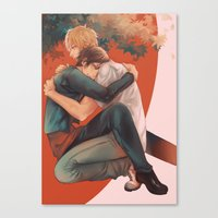 yaoi Canvas Prints featuring Raira Days by washuuchan