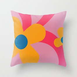 Sticky Flowers II Throw Pillow