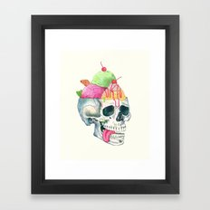 brain freeze Framed Art Print