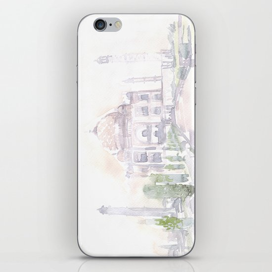 Watercolor landscape illustration_India - Taj Mahal iPhone & iPod Skin