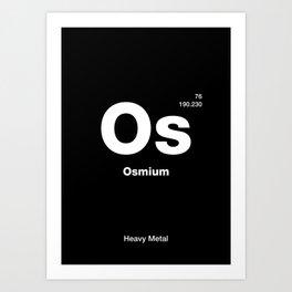 Osmium Art Print