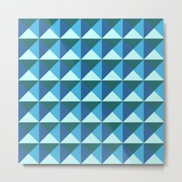GEOMETRIC PATTERN, BLUE Metal Print