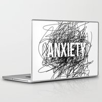 anxiety Laptop & iPad Skins featuring anxiety by petrsvetr
