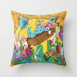 Bunny Slumber Halloween party Throw Pillow