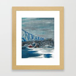 Winter Cass Street Bridge 4 of 4 Framed Art Print