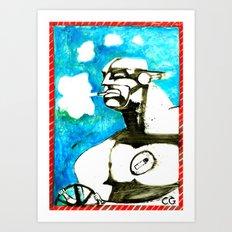 SMOKER TWO (from Gotham City) Art Print