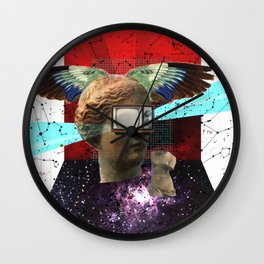 Wonder Wood Dream Mountains - The Demon Cleaner Series · You Got Me Floatin´ Wall Clock