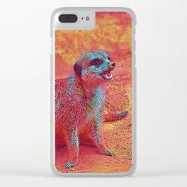 Popular Animals - Meerkat Clear iPhone Case