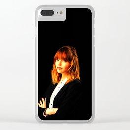 Emma Stone - Celebrity Art Clear iPhone Case