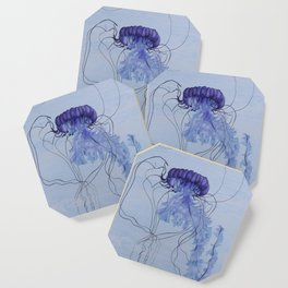 Blue Jellyfish 10 Coaster