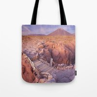 chile Tote Bags featuring Atacama Desert in Chile by Sara Winter