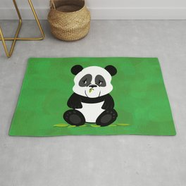 Sad Baby Panda (without Bamboo) Rug