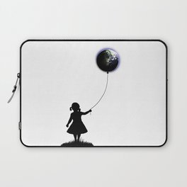 The Girl That Holds The World - White background Laptop Sleeve