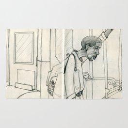 I Ride the Bus - Bag Man Rug