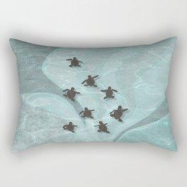 Loggerhead sea turtle hatchlings Rectangular Pillow