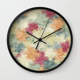 Tropical Fan Palm Paradise – Colorful #02 Wall Clock