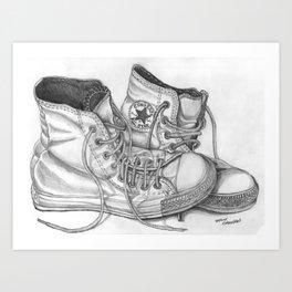 """""""Lazy Chucks"""" Art Print"""