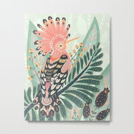 Hoopoe Bird Metal Print