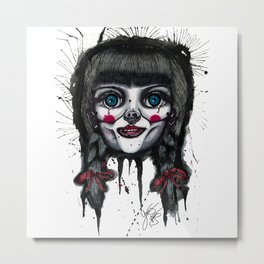 The Horror of Annabelle Metal Print
