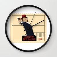 agent carter Wall Clocks featuring Agent Carter  by amyskhaleesi