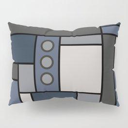 Blocked in Steely Blue Pillow Sham