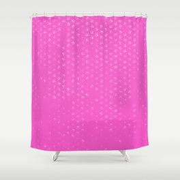 libra zodiac sign pattern mag Shower Curtain