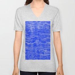 Egyptian Marble, Lapis Blue Unisex V-Neck