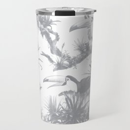 Toucans and Bromeliads - Sharkskin Grey Travel Mug