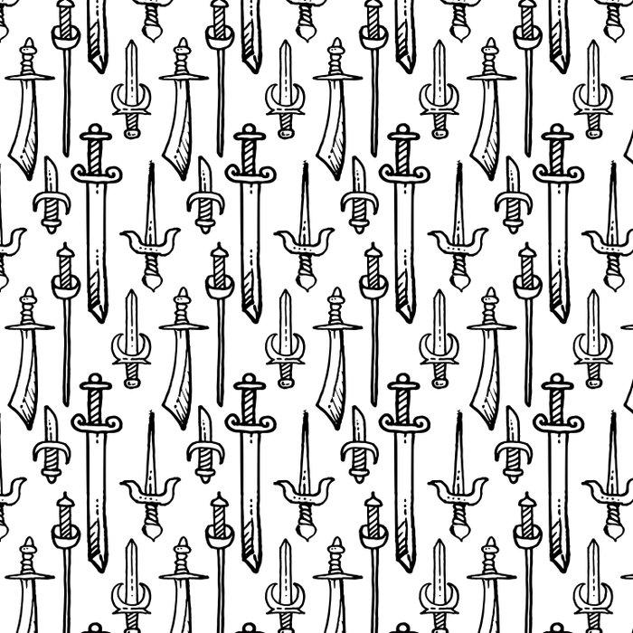 Swords & Daggers Pattern Duvet Cover
