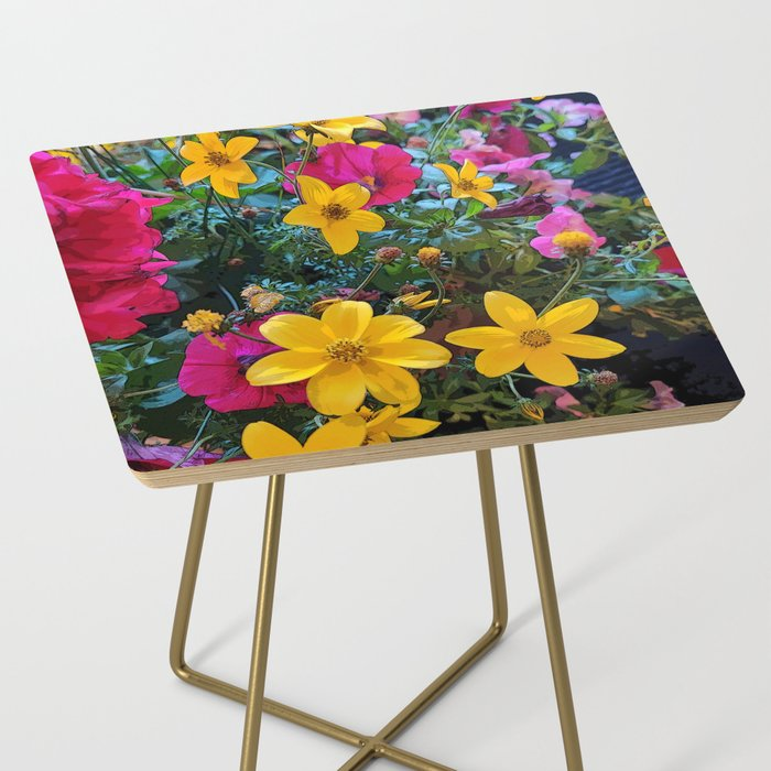 SHOP MY FLORAL SIDE TABLE COLLECTION on Society6