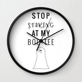 Staring at my Boo-Tee Wall Clock