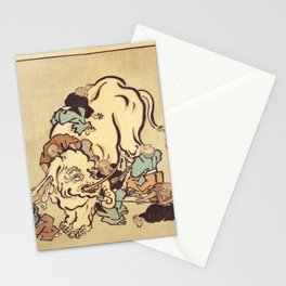 Blind monks examining an elephant Stationery Cards