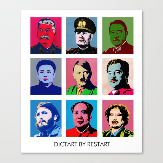 Dictart Canvas Print